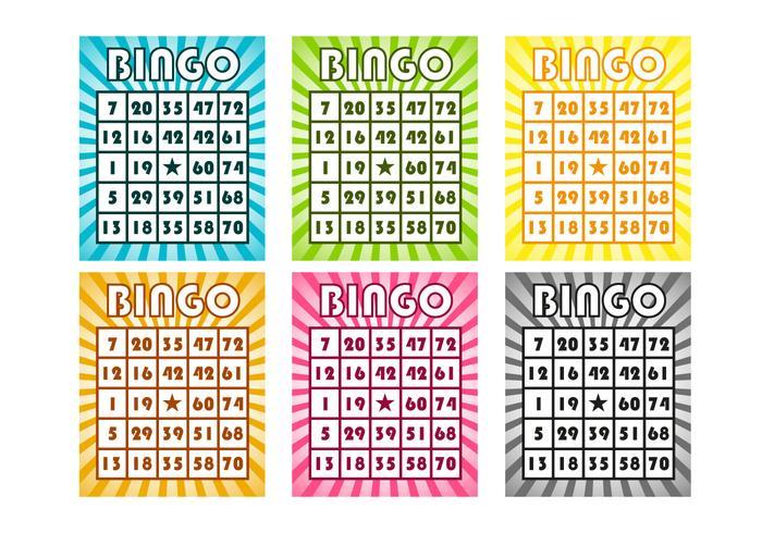Vector de cartões de bingo grátis