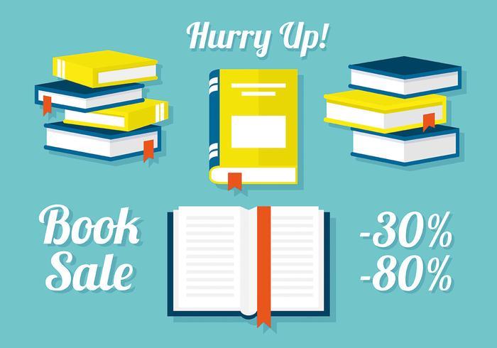 Free Set of Books in Flat Design Ilustração vetorial vetor