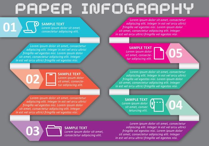 Vector de infografia de papel