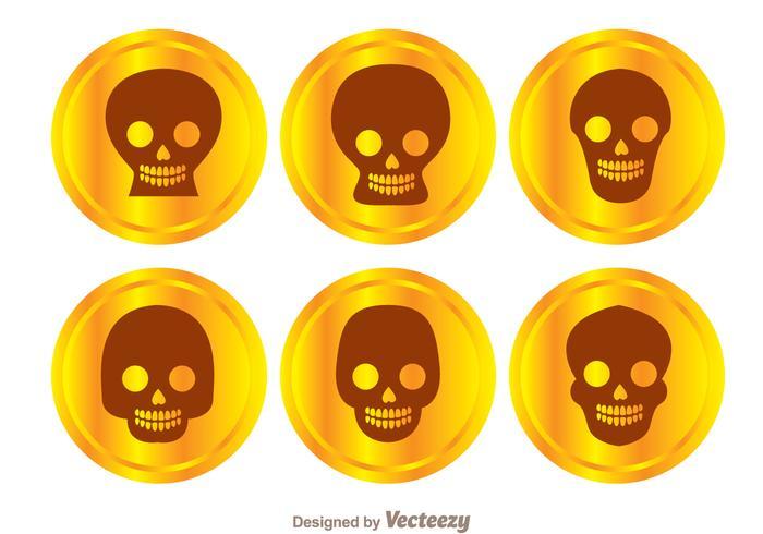 Vetores de crânio da moeda de ouro