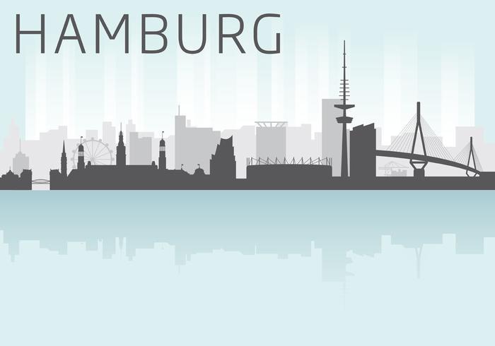 Vetor de horizonte de Hamburgo