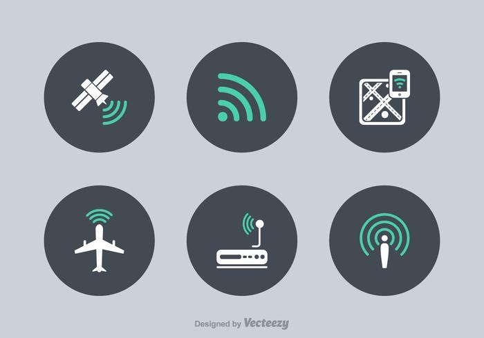 Ícones de vetor de tecnologia WiFi grátis