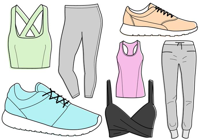 Vector de roupa de treino grátis