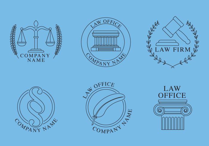 Logotipos do Law Office vetor