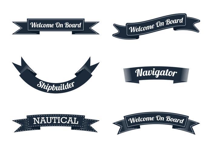 Fita náutica vetor