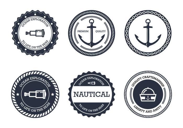 Emblema náutico vetor