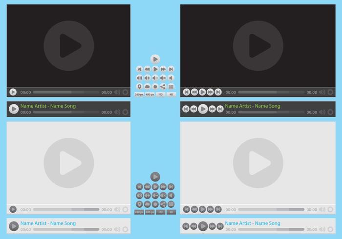 Vectores do Media Player vetor