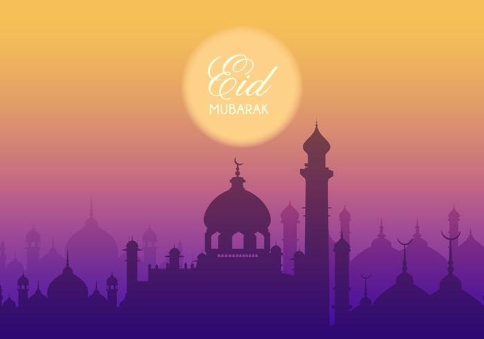 Fundo Eid Mubarak Vector gratuito