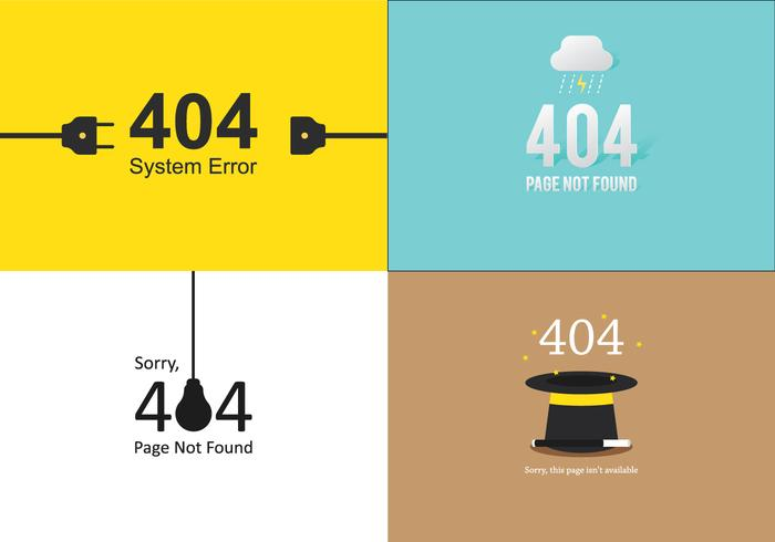 Conjunto de modelos 404 vetor