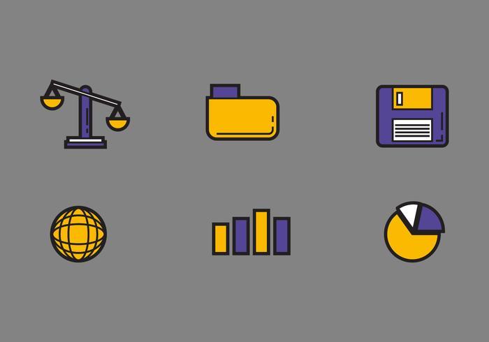 Ícones de vetores de escritório de direito gratuito # 1