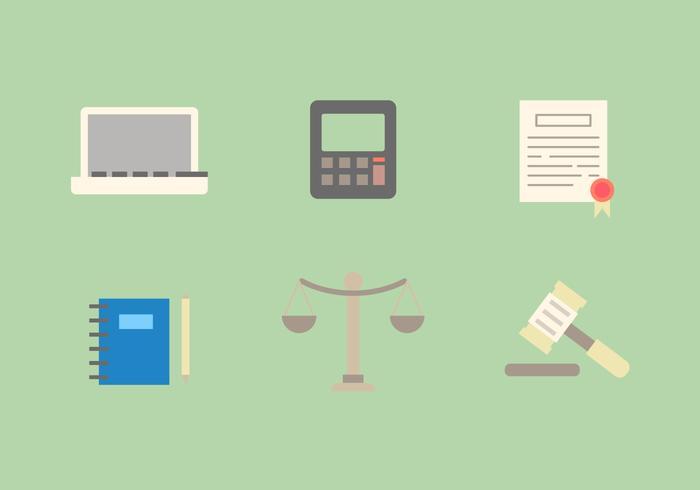 Ícones de vetores de escritório de direito gratuito # 5