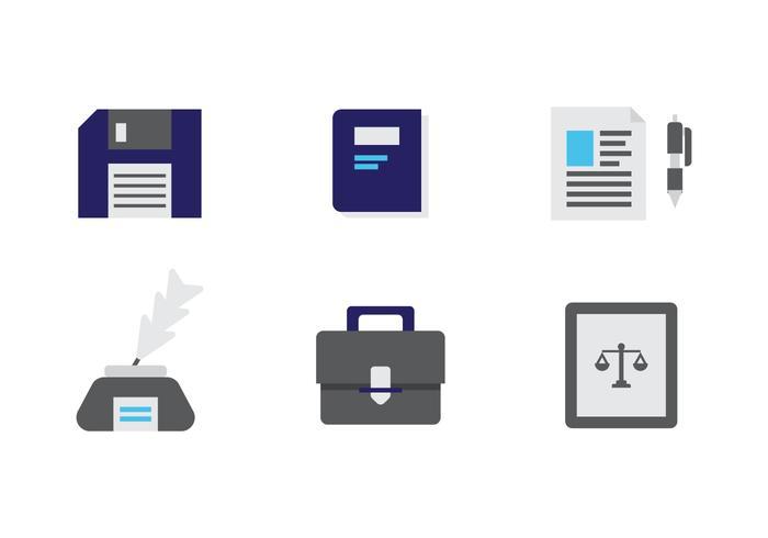 Ícones de vetores de escritório de direito gratuito # 8