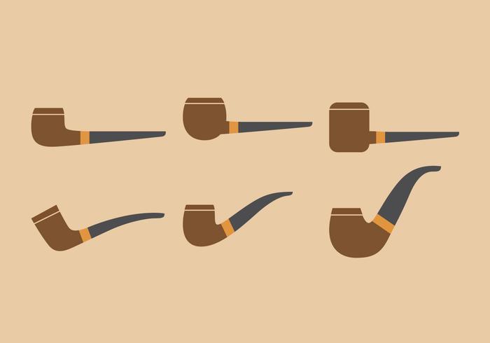 Conjunto de Ilustração de Tubo de Tabaco de Vetor