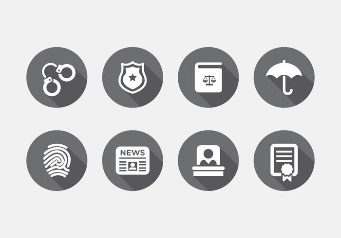 Conjunto de ícones de direito vetorial vetor