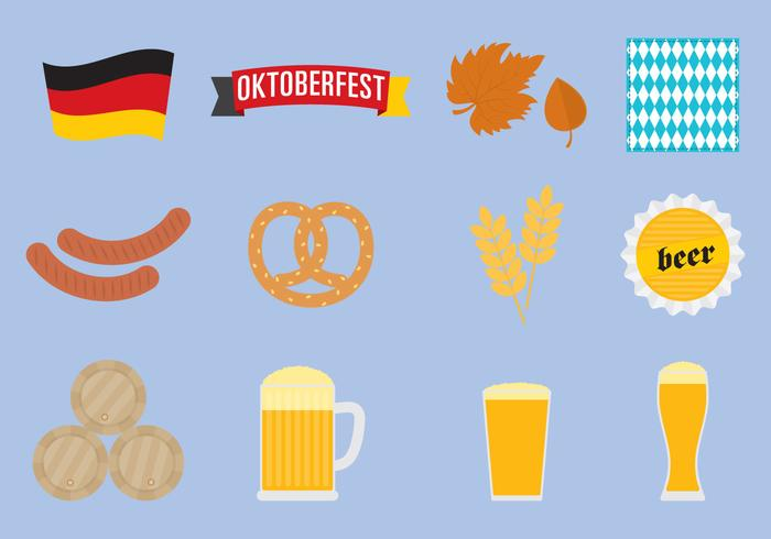 Ícones Oktoberfest vetor