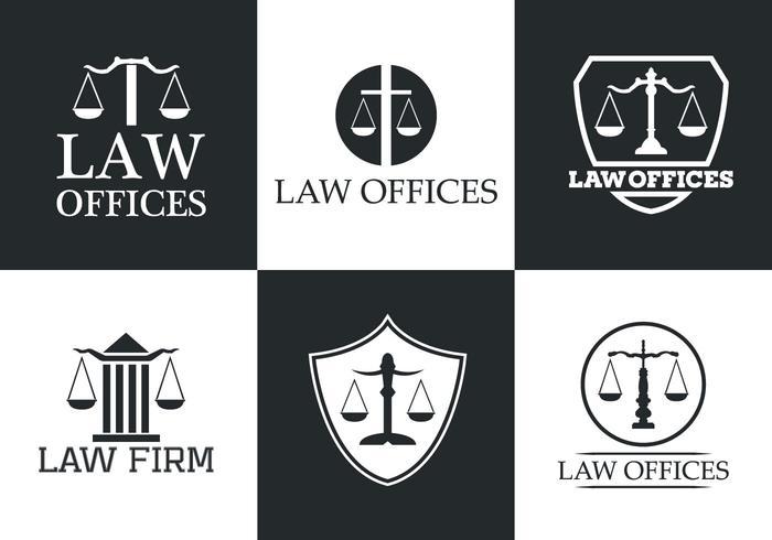 Coleção do logotipo do vetor Law Office