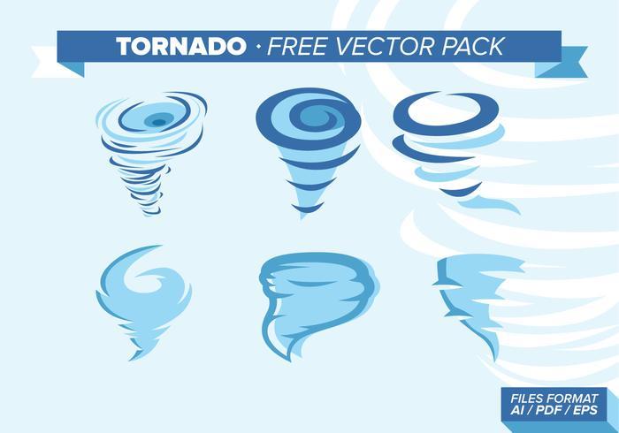 Ilustração do tornado pacote de vetores grátis