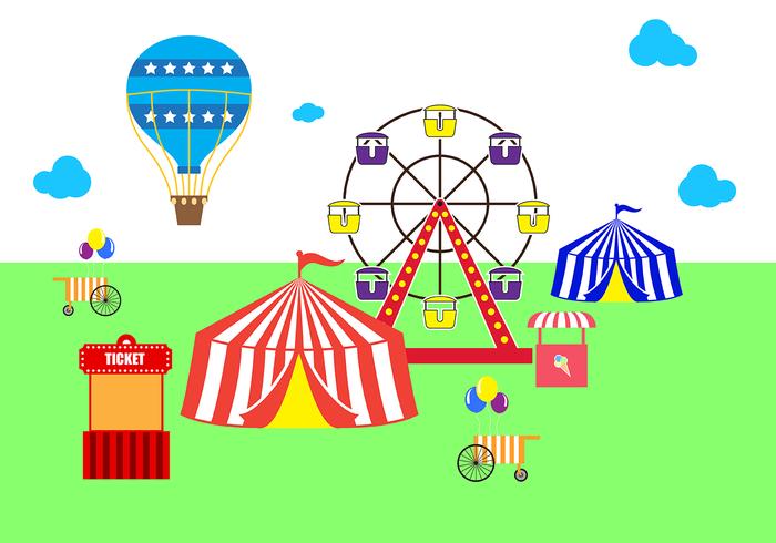 Vetor de feira de país livre