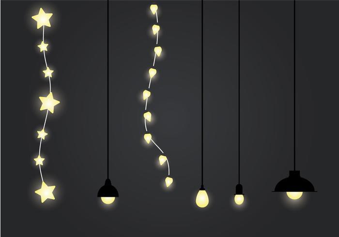 Ilustração de vetor de luz pendurada grátis