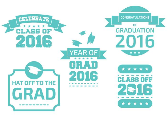 Distintivos de graduação vetor