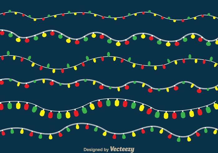 Luzes de feriado vetor