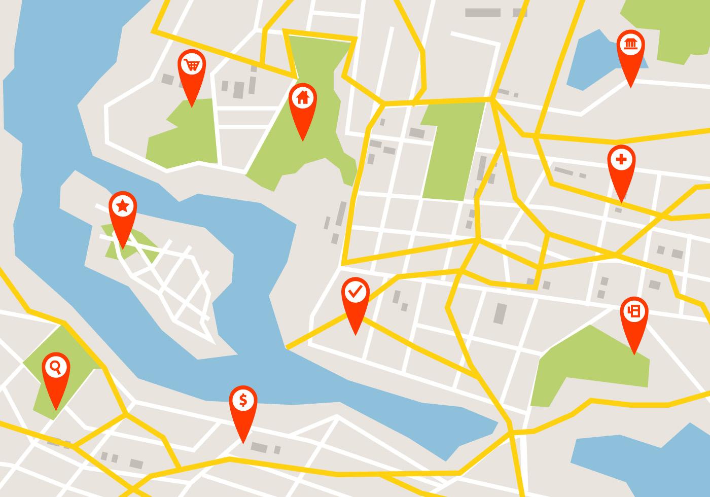 Mapa De Localizacao Do Roadmap Download Vetores Gratis Desenhos De Vetor Modelos E Clipart