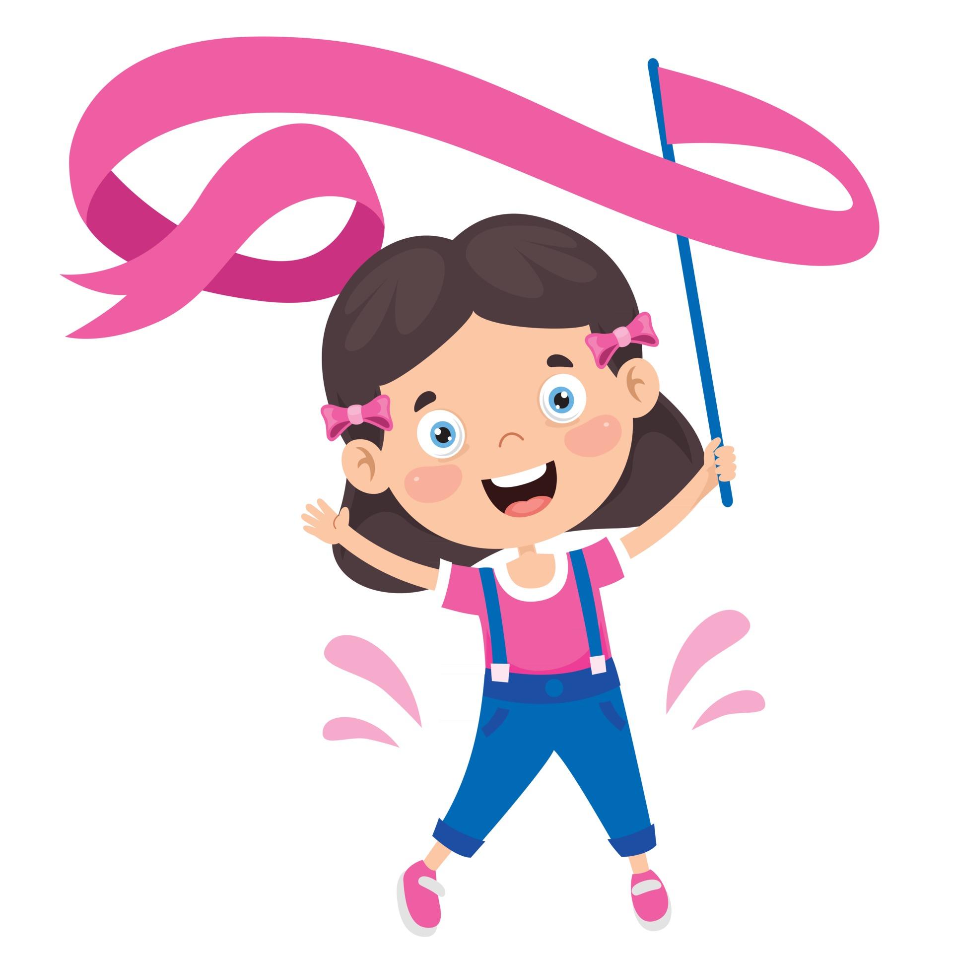criança feliz fazendo exercício de ginástica 2539321 Vetor no Vecteezy