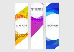Conjunto de bandeiras verticais vetor