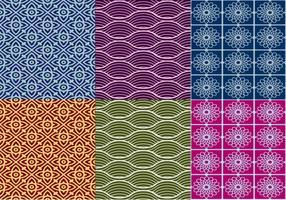 Vetores de padrões tailandeses texturizados