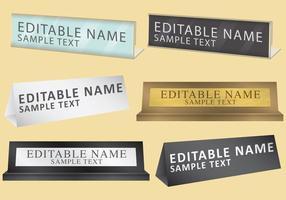 Placas de nome pessoal vetor