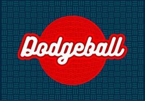 Dodgeball design vetorial gratuito vetor