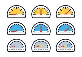 Contorno do medidor de combustível