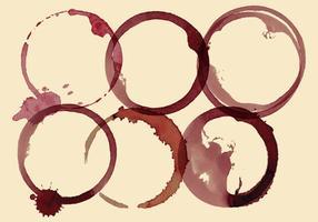 Manchas de vinho vetor