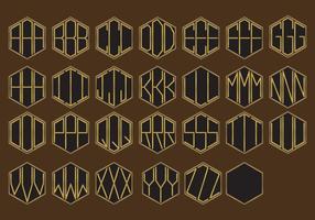Vetores dourados do monograma