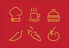 Conjunto de ícones de cozinhar do vetor