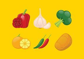 Conjunto de Ilustração de Legumes Vetoriais vetor