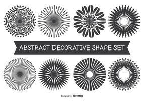 Conjunto de formas decorativas abstratas variadas vetor