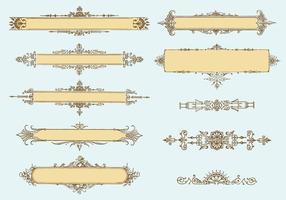 Ornamentos de vetores vintage