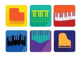 Vetores de considerando de piano
