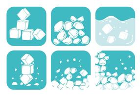 Vetores de gelo triturados