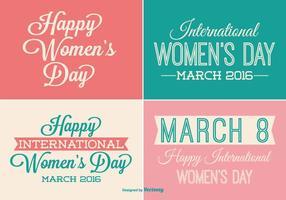 Conjunto de etiquetas do dia das mulheres