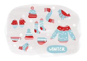 Vetores de ilustração de inverno