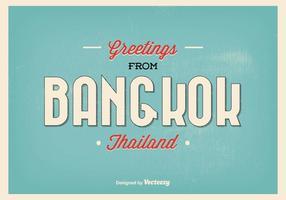 Ilustração de saudação de Banguecoque vetor