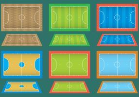 Tribunais de Futsal vetor