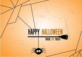 Vetor de aranha de halloween grátis