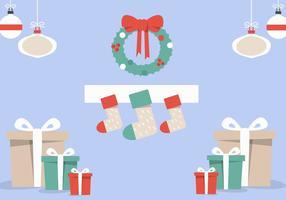 Vetor de lareira de Natal grátis