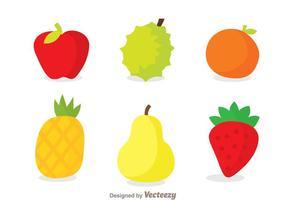 Ícones de frutas vetor