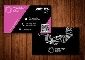 Cartão de visita criativo rosa vetor