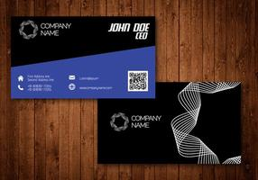 Cartão de visita criativo espiral vetor