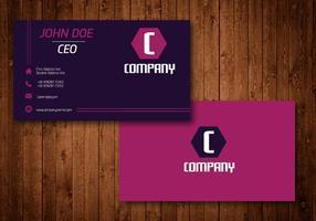 Cartão de visita criativo hexagonal roxo vetor